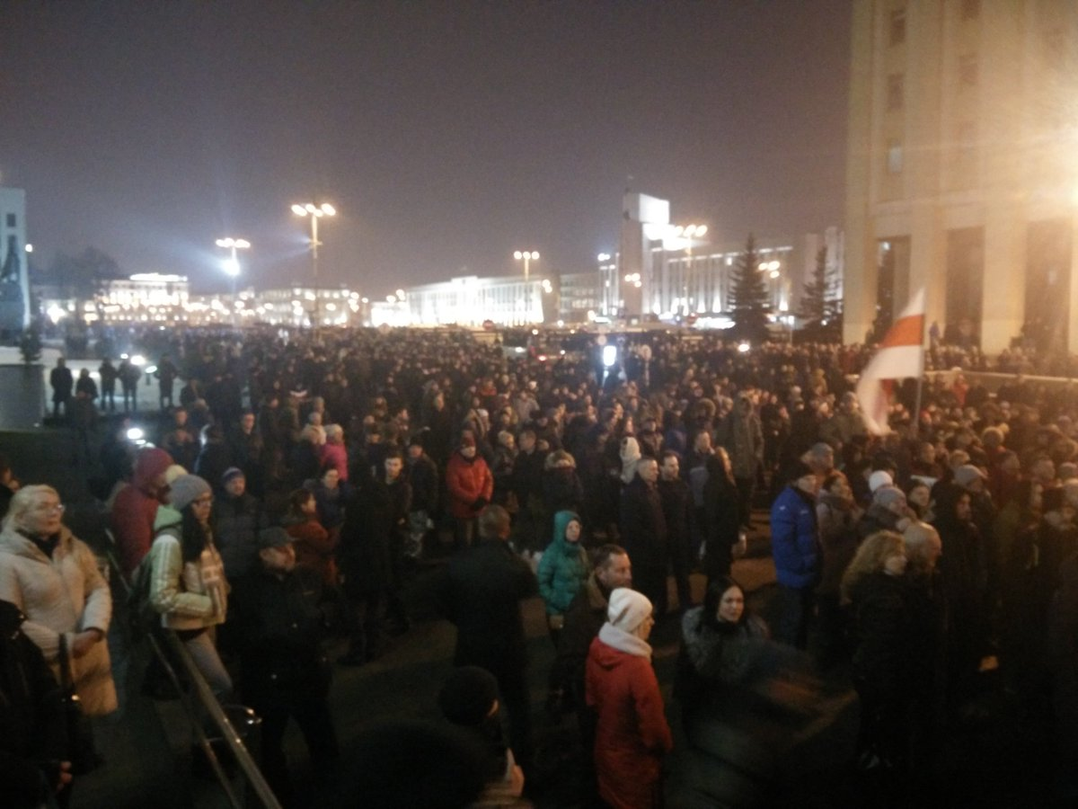 At least 2 thousands protesting today in Minsk