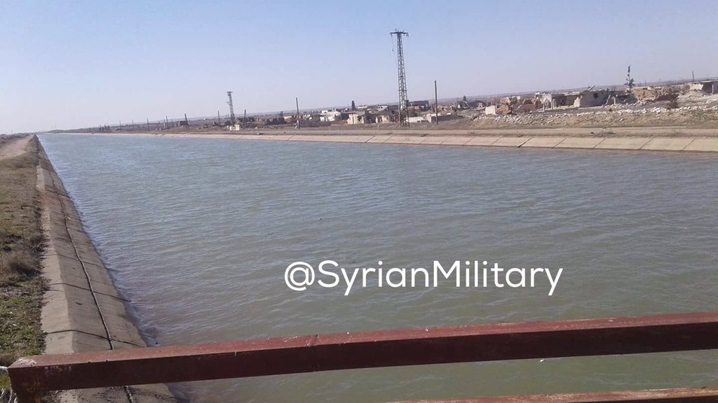 ISIS started to pump water from Assad lake to fload villages in Deir Hafer plain  and  stop government advances there