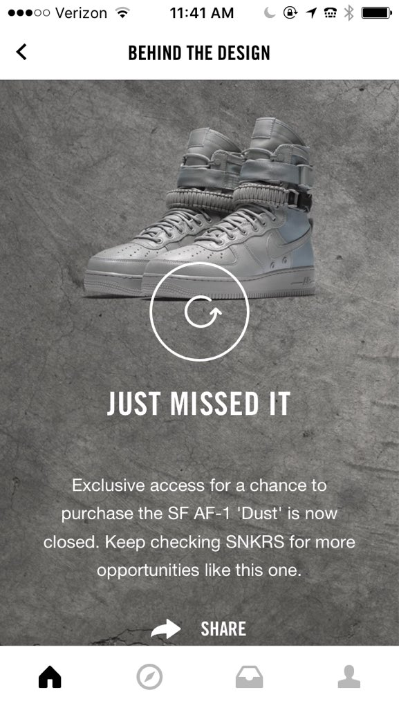 Nike SNKRS lets you scratch off