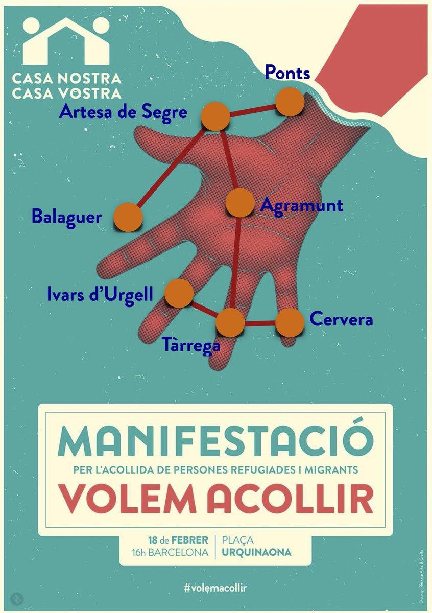 #Agramunt #ArtesadeSegre #Balaguer #IvarsdUrgell #Cervera #Ponts #Tàrrega teixint complicitats per anar a Barcelona a dir que .@volemacollir<br>http://pic.twitter.com/rjerLF3oFF