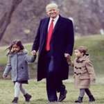 Arabella and Joseph with  @realdonaldtrump on the South Lawn of The White House