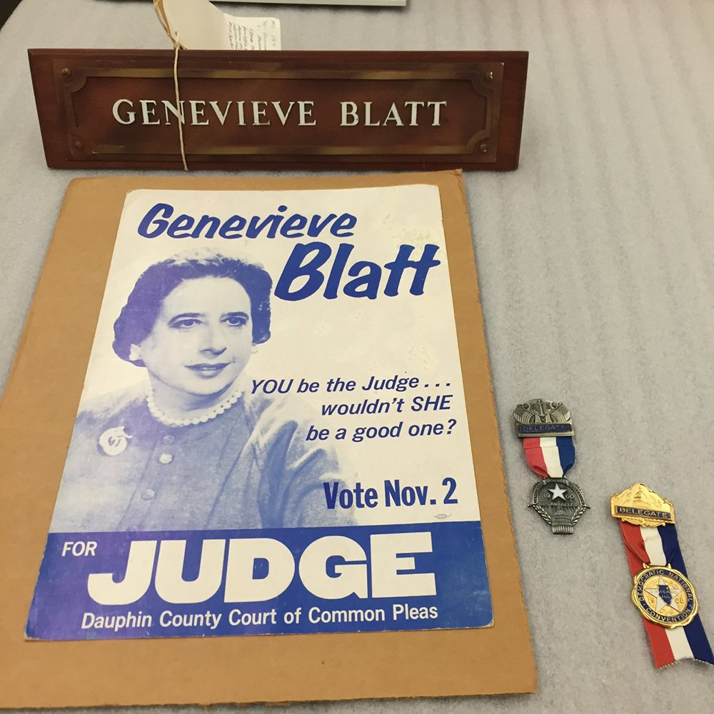 Genevieve Blatt, 1st woman to hold an elected office in PA, fought for equality through her rulings. #DayofFacts  https://t.co/mRJzHvJI4j https://t.co/tinlnA0HNo