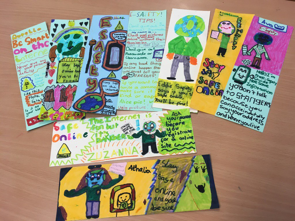 Some of the great E Safety bookmarks we made this week
