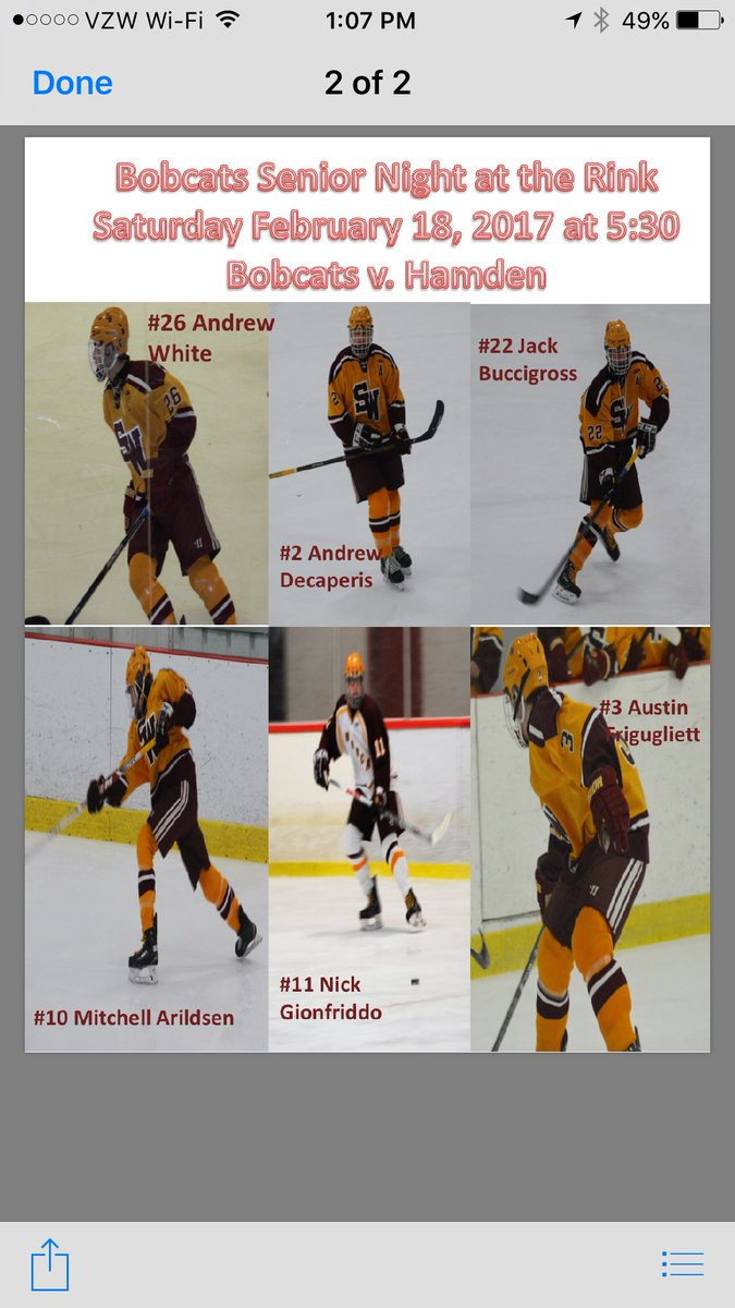 Sw Hockey 2018 19 On Twitter Bobcat Senior Night Tomorrow 5 30