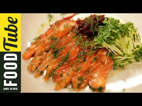 Jamie's Perfect Party Food : Salmon Gravadlax #Food #Jamie #recipes
