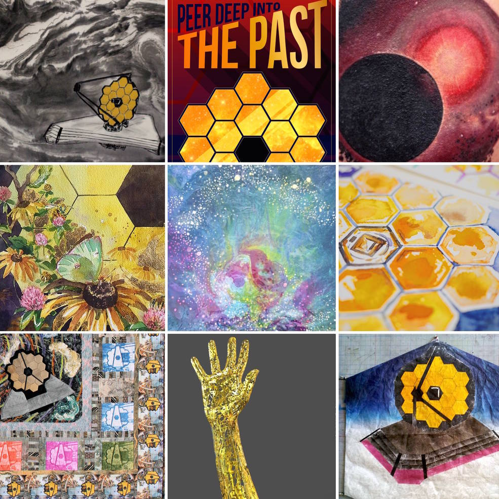 Free to the public! #JWST: Science + Art exhibit, March 3 at the @NASAGoddard Visitor Center! #JWSTart More info: https://t.co/YMOXM83ZM1 https://t.co/HtQgKHoiUI