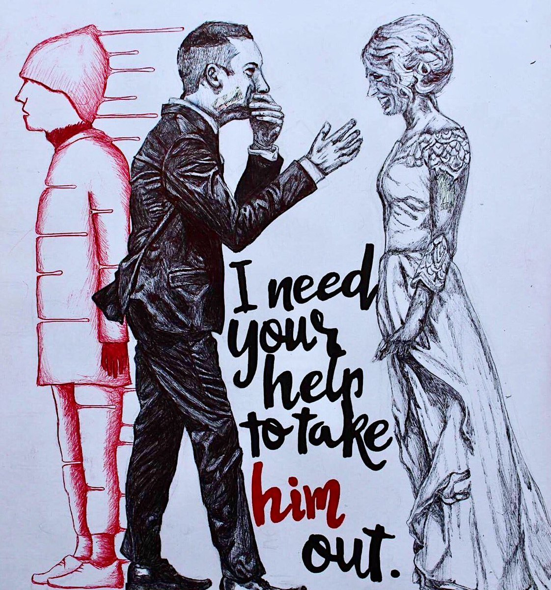 .: i need your help to take him out :.   #cliqueart #FanArtFriday @tylerrjoseph @thedavidthedad @jennaajoseph @twentyonepilots<br>http://pic.twitter.com/4LwVLvTrha