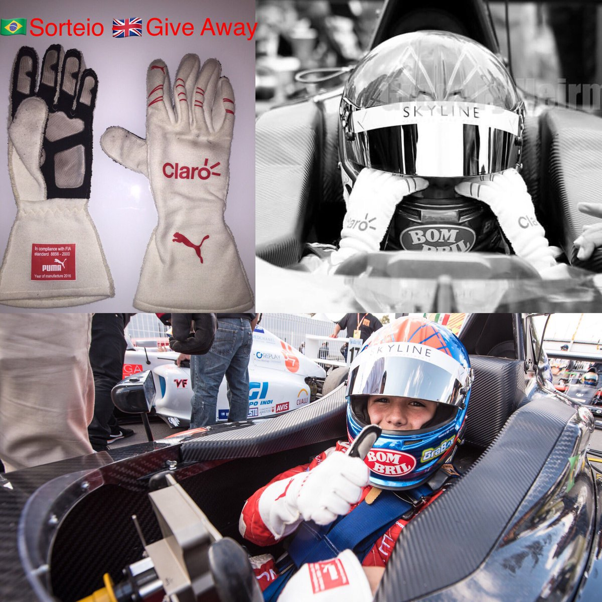 🇬🇧Giving Away my racing gloves to a lucky fan ‼️ReTweet to enter‼️ - 🇧🇷Estou dando a minhas luvas de corrida para um fãn! RT para participar https://t.co/X3X2FNYp8L