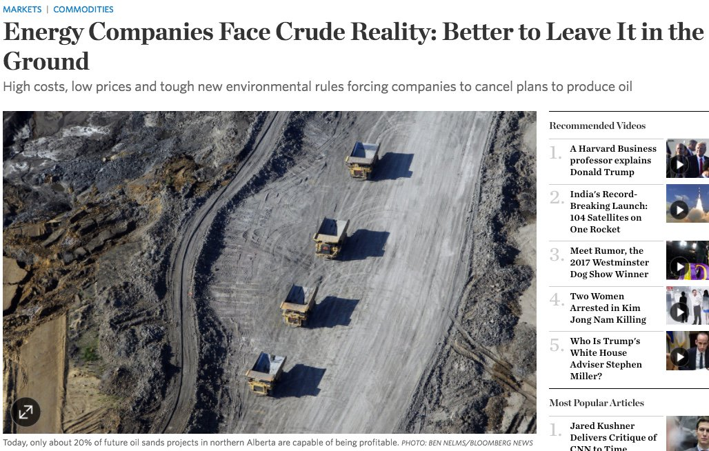 Must read from the @WSJ about @exxonmobil and others&#39; stranded assets.  https://www. wsj.com/articles/energ y-companies-face-crude-reality-better-to-leave-it-in-the-ground-1487327406 &nbsp; …  #ExxonKnew #KeepItInTheGround<br>http://pic.twitter.com/usBrT2Pq69