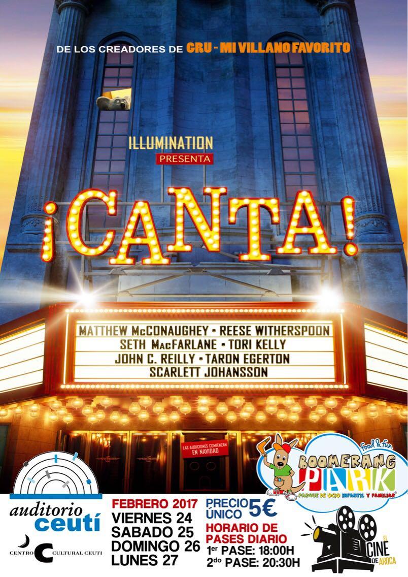 El mejor #cine lo puedes ver en auditorio #Ceuti De viernes 24 a lunes 27 febr. a las 18h y 20:30 h. y por sólo 5€ Ven a ver la peli #canta <br>http://pic.twitter.com/wRuB3DzL97