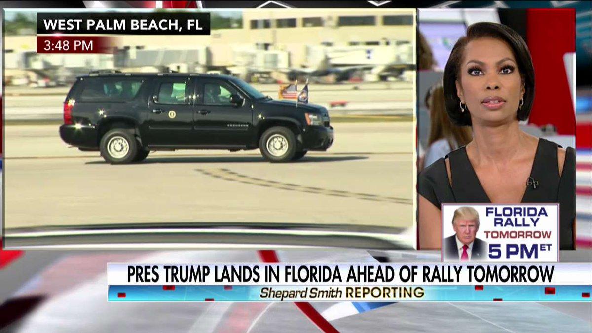 News Alert: @POTUS lands in Florida ahead of rally tomorrow. https://t...