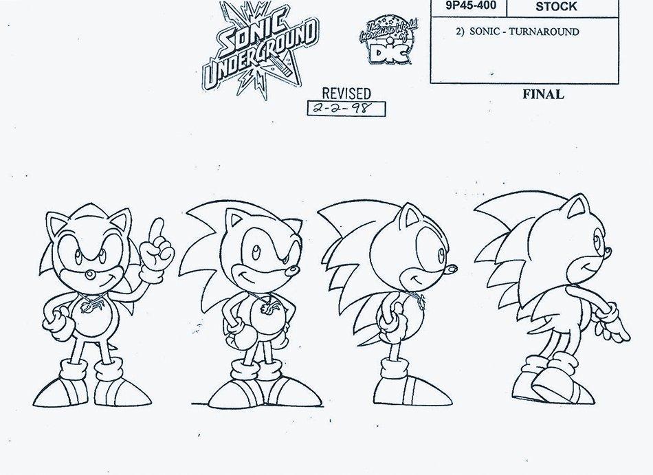 "Model Sheets on Twitter: ""Sonic Underground Turnaround ..."