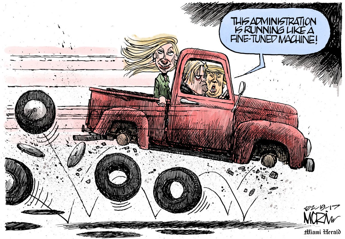 It&#39;s quotes like this that make cartoonists&#39; days easier. #ThanksDonald #morintoon #DonaldTrump #WhiteHouseChaos #GOP #Bannon #MikeFlynn<br>http://pic.twitter.com/oTQgFVy6yI