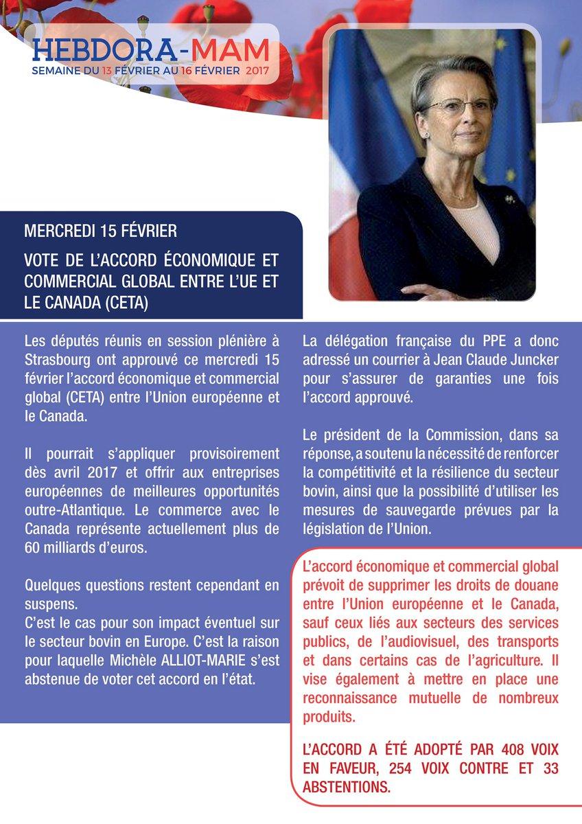 Retour sur la session de cette semaine au @Europarl_FR à #Strasbourg. #Europe #CETA #Environnement #Terrorisme @PPE_FR @PPE<br>http://pic.twitter.com/TPTm3hnJh0