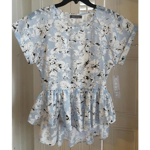 Gracia Floral Chiffon Blouse - $20.00   #blacktwitter #BlackOwnedStores @railucille  http:// blacktradelines.com/store/30/item/ 277/Gracia-Floral-Chiffon-Blouse &nbsp; … <br>http://pic.twitter.com/OGUj01p70e