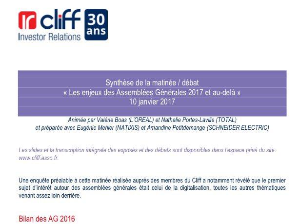 #nouveau Découvrez le compte-rendu de la matinée/débat @ircliff Les enjeux des #AG2017 et au-delà   http:// cliff.asso.fr/fr/article/255 3/Actualites/Autres_informations/Matinee_debat_Cliff_Les_enjeux_des_AG_2017_et_au-dela_synthese.html &nbsp; … <br>http://pic.twitter.com/YuuaT43bg8