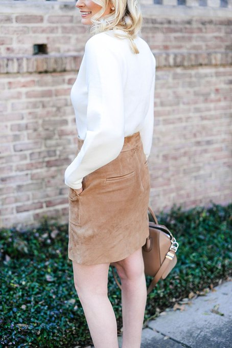 stylish skirt and sweater combo