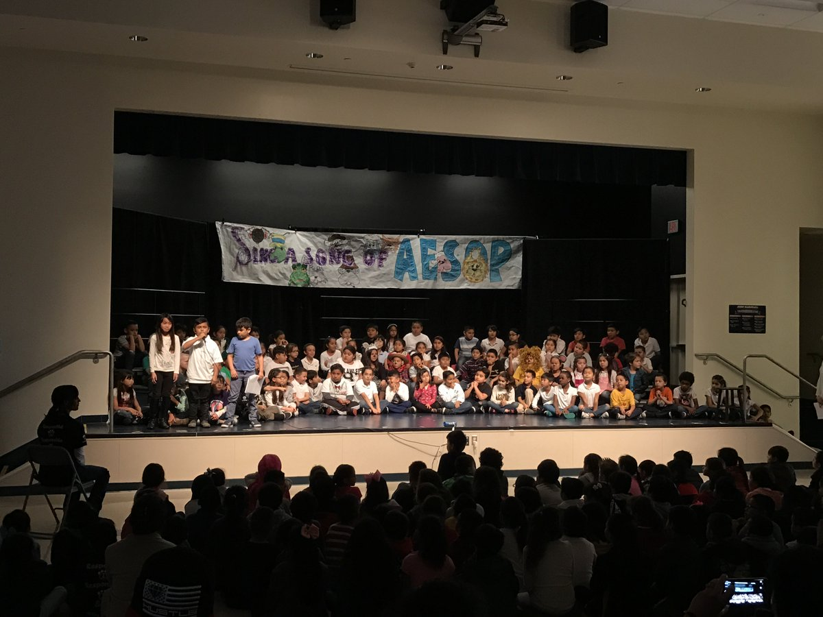 2nd graders @JMarshallSchool school perform an AESOP fables musical. https://t.co/RtMDTpudEJ