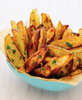 Lemon and Garlic Potato Wedges