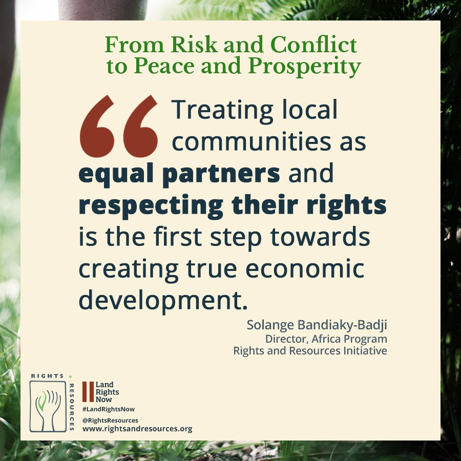 Community land rights are key to ensuring sound investment, economic d...