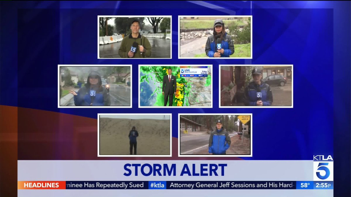 #KTLA has crews all over #SoCal bringing you the latest on this massive storm. We have you covered!<br>http://pic.twitter.com/UXXSiXKb4o