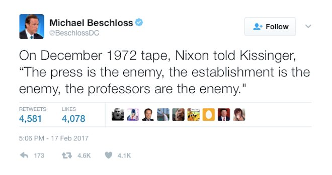 A timely reminder from Presidential historian @BeschlossDC https://t.co/uSJQWUlzcv