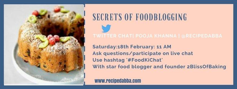 Inviting all like minded folks on #foodblogging here with @2blissofbaking @foodtrucktravel  @meerasapra @shanayatales @rachnaparmar<br>http://pic.twitter.com/J8uGCwMxfy