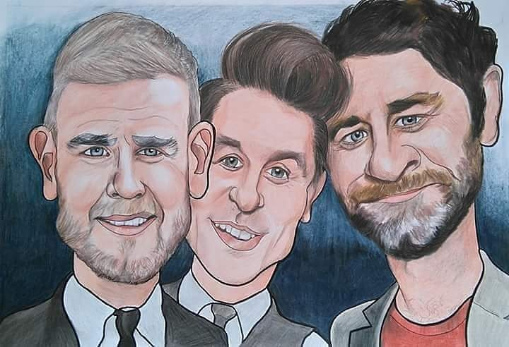 Take That  Artwork by Colin Strachan  #takethat #wonderland #giants #garybarlow #markowen #howarddonald #Manchester<br>http://pic.twitter.com/zdsUbCQzjI