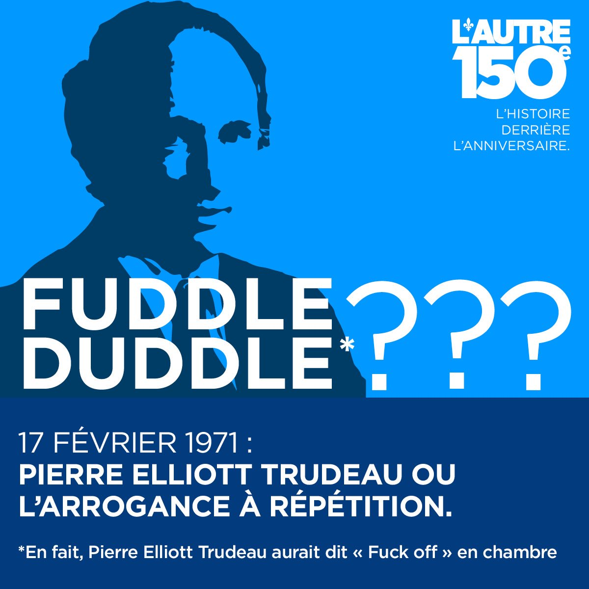 17 février 1971 - Pierre Elliott Trudeau ou l'arrogance à répétition  https://www. facebook.com/autre150e/post s/1283218515078590:0 &nbsp; …  #Canada150  #Autre150e #PolQc #PolCan<br>http://pic.twitter.com/w745dvzKM4
