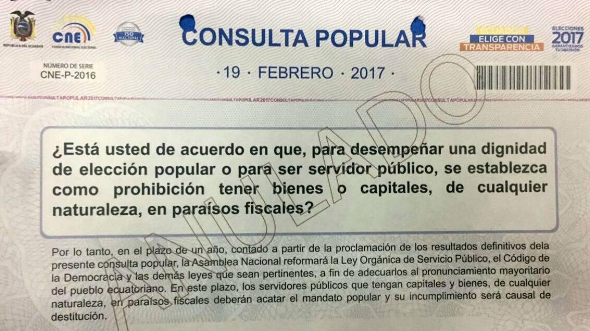 Este domingo 19 también hay consulta popular sobre paraísos fiscales....