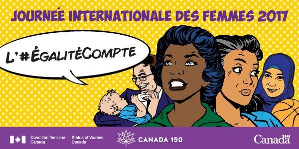 En 2017, l'#ÉgalitéCompte. Vive l'égalité des sexes, vive le #Canada150  et la #JIF2017!  http:// ow.ly/Qo2D3097ix6  &nbsp;  <br>http://pic.twitter.com/MG4Ud8d9q4