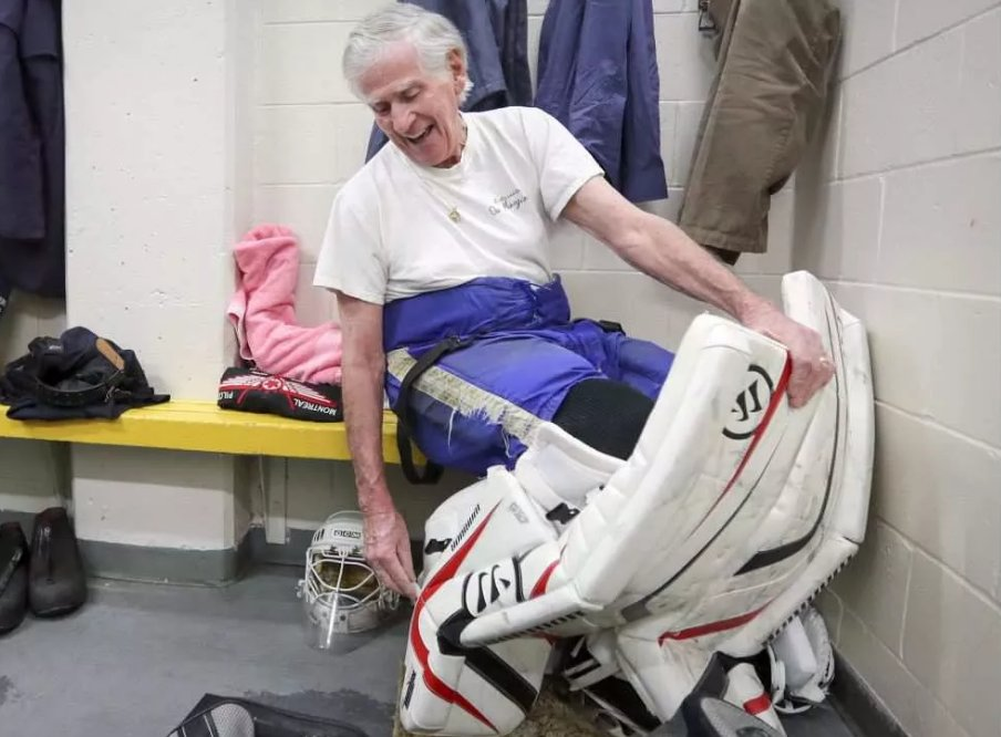 Former Airline Pilot Still Strapping On The Goalie Pads At Age 80