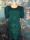 ♢※ #LAURENCE KAZAR M #GREEN SILK SEQUIN/BEADED #LINED KNEE LENGTH SHORT SLEE... Be Inspired!  http:// ebay.to/2jNBZv7  &nbsp;  <br>http://pic.twitter.com/6scORI1yIx