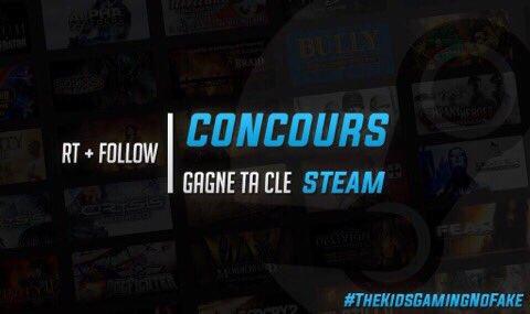 #Moyen #Concours !   Remporte 1 Clé Steam !    #RT + FOLLOW   @TheKidsGaming  @ArkaneG   T.A.S à 150 #RT ! <br>http://pic.twitter.com/ZaSnQuEW2r
