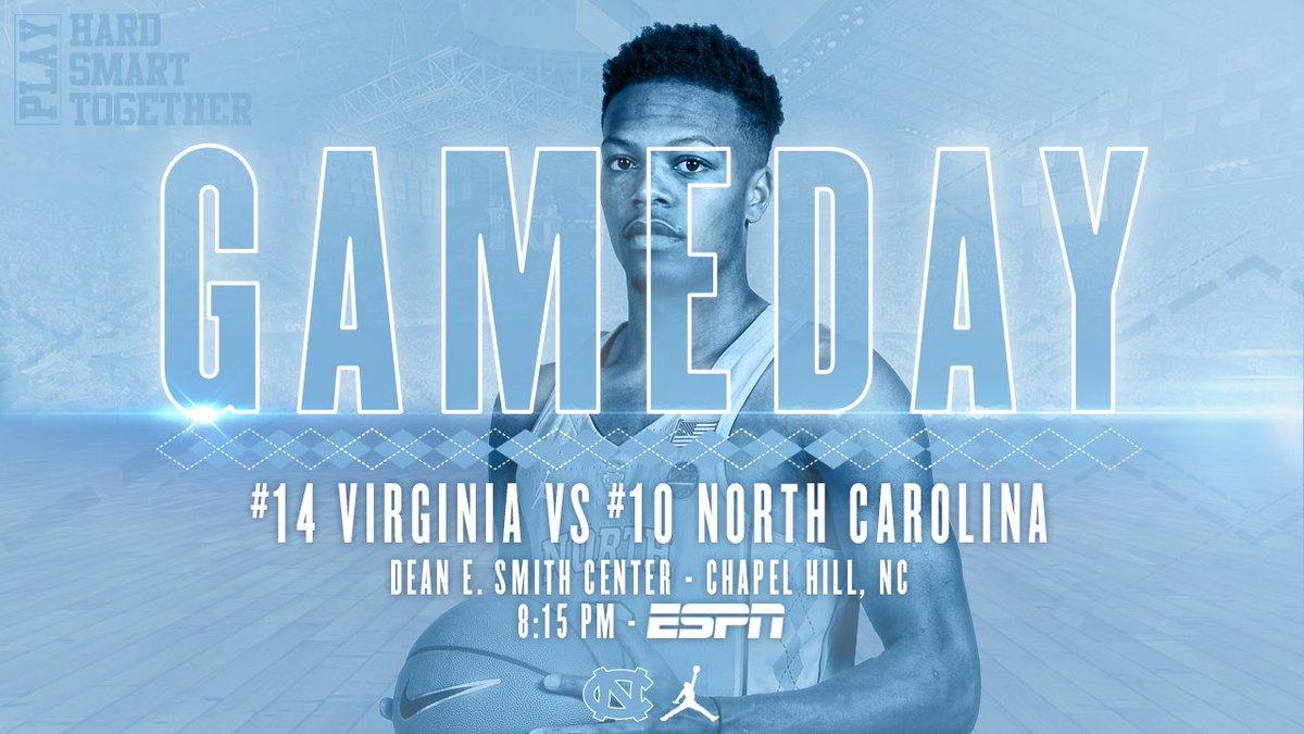 GAMEDAY vs UVA!  : Chapel Hill, NC : 11:00 AM - ESPN College GameDay : 8:15 PM - Tip : ESPN/WatchESPN  #GoHeels #GetIntoIt #UNCBBall <br>http://pic.twitter.com/KxLiRSYdIj