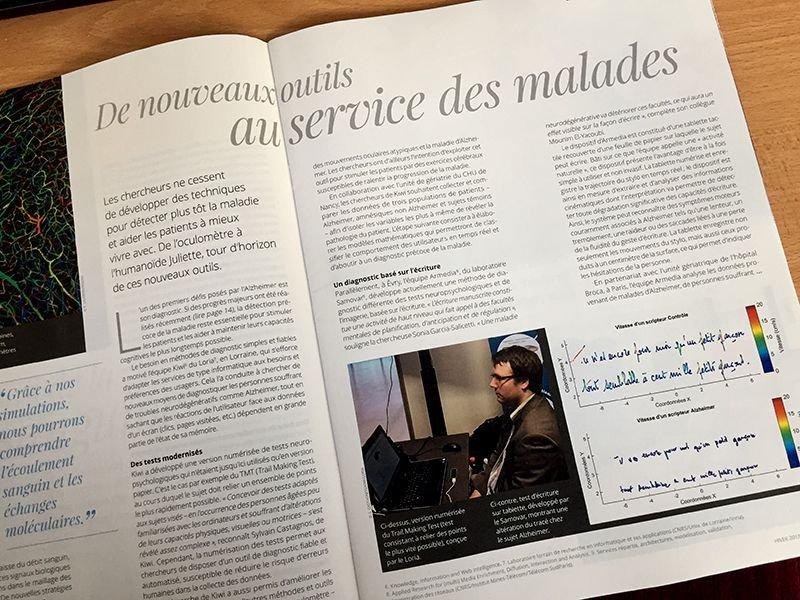 Les outils de détection d&#39;#Alzheimer du @Loria_Nancy et de #SAMOVAR à l&#39;honneur dans #CNRSleJournal n°287  https:// lejournal.cnrs.fr/sites/default/ files/numeros_papier/jdc287_complet_bd3.pdf &nbsp; … <br>http://pic.twitter.com/yaFrTLQXpS