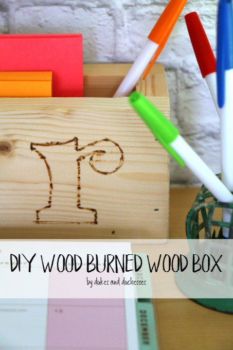 DIY Wood Burned Wood Box
