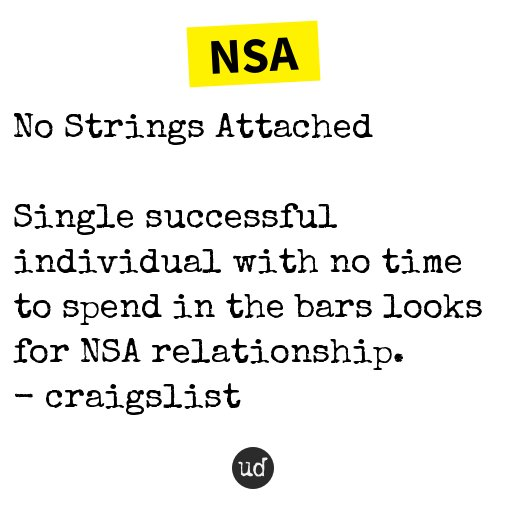 What does nsa mean urban dictionary
