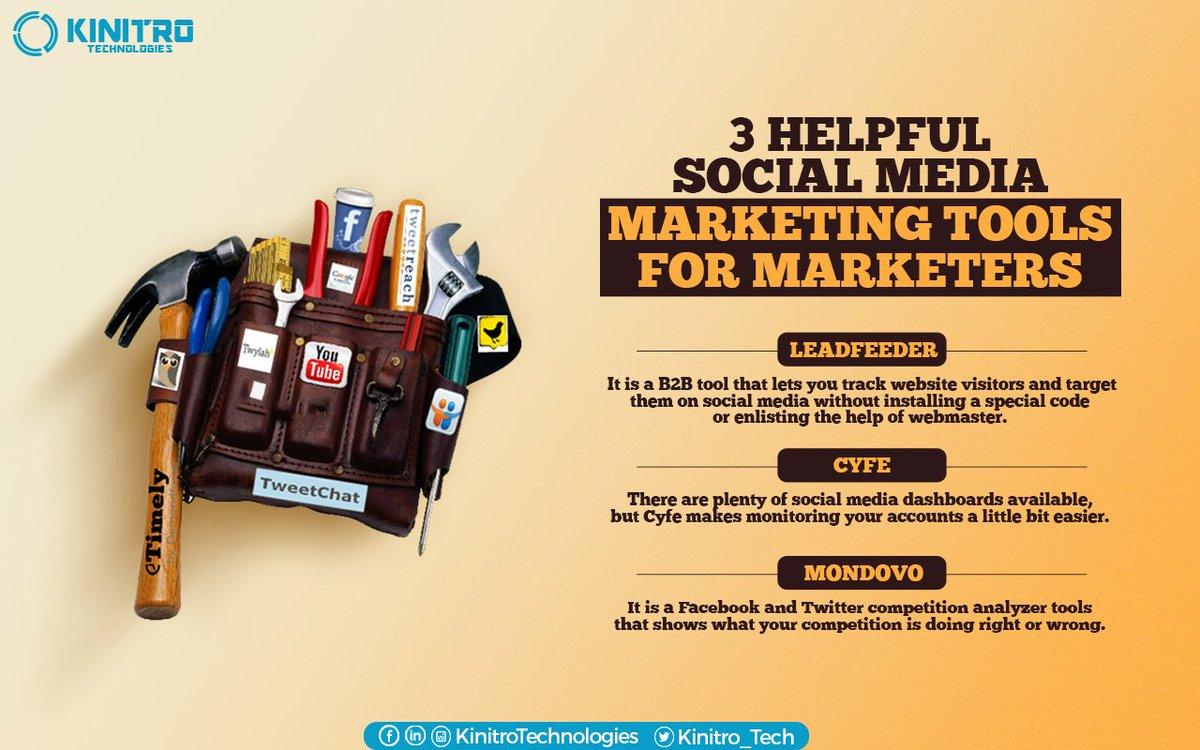 3 helpful #socialmedia marketing tools for marketers! #Socialmediamarketing #Digitalmarketing https://t.co/18QcPNxiQ5