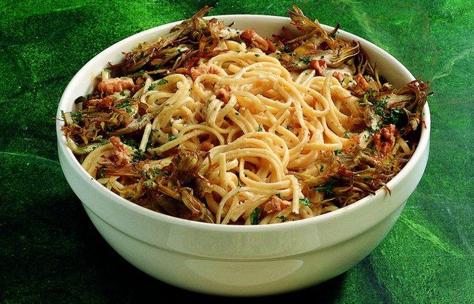 Ricetta Linguine alle noci e carciofi