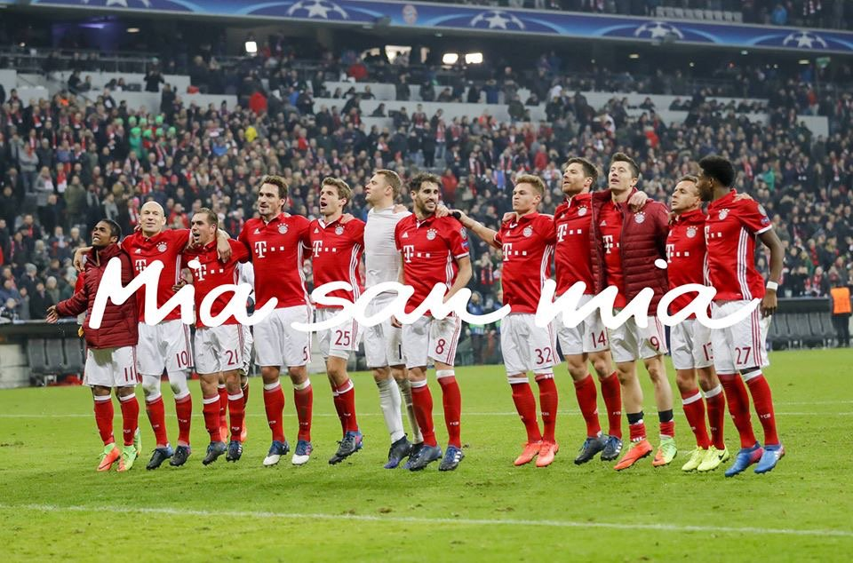 One for all. All for one.   #MiaSanMia https://t.co/IDppZOOzRe