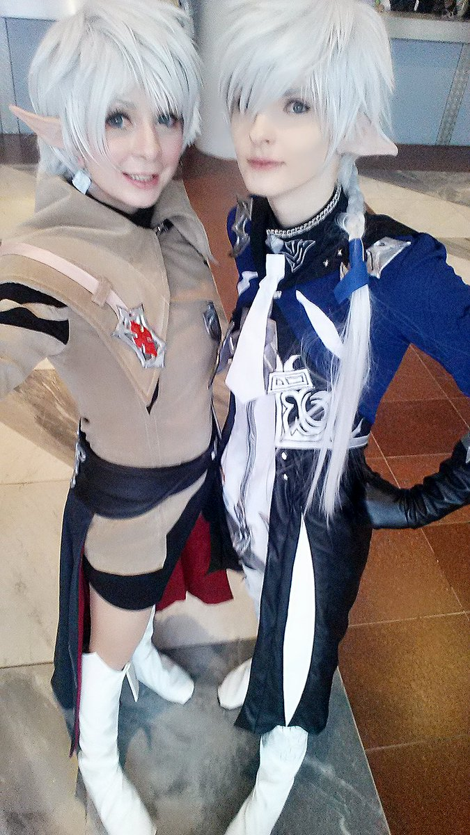 Leveilleur Twins\♡ Fun at #FFXIVFanFest2017  #FFXIV #cosplay <br>http://pic.twitter.com/p9Z0ICoCp2