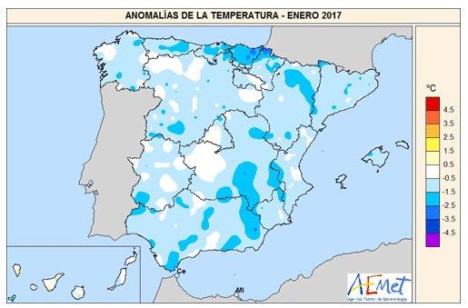 Aunque #enero ha sido frío en #España, a escala global ha sido el 3º más cálido desde que hay registros.  http://www. climatecentral.org/news/january-t hird-warmest-global-21169 &nbsp; … <br>http://pic.twitter.com/t6RXU4vQJA
