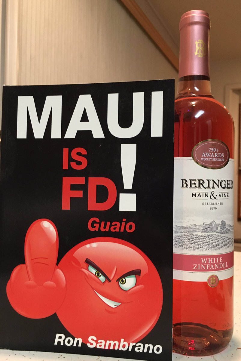 A risqué book and a bottle of wine,  http://www. ronsambrano.com  &nbsp;  ,  #maui  #lvrj. #mauitime  #nytimes  #humor <br>http://pic.twitter.com/oPsyku2eKg