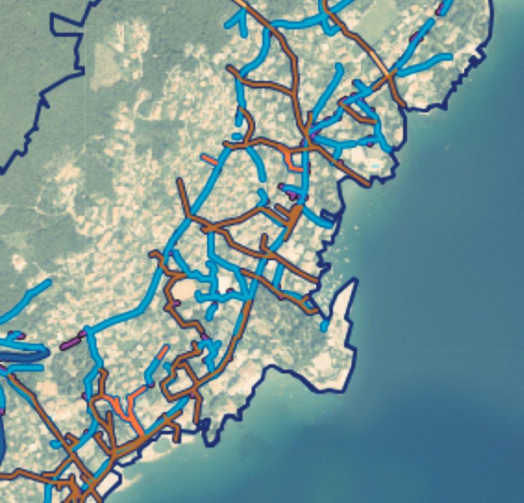 #LiburnijskeVodeGIS Ove se godine nastavlja evidencija oborinske odvodnje na području Grada Opatije i Općine Lovran a sve prema planu iz 16.