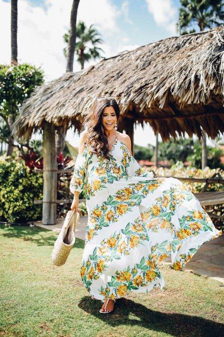 Floral Maxi Dress in Maui