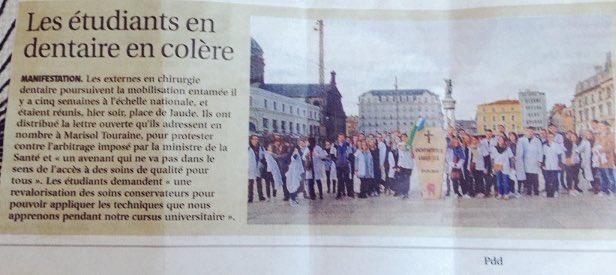 Article sur notre action de jeudi #DENTger #PaieTaPolitiqueSante @lamontagne_fr #clermont #santé #grève @MarisolTouraine<br>http://pic.twitter.com/1Lv0iERPeV