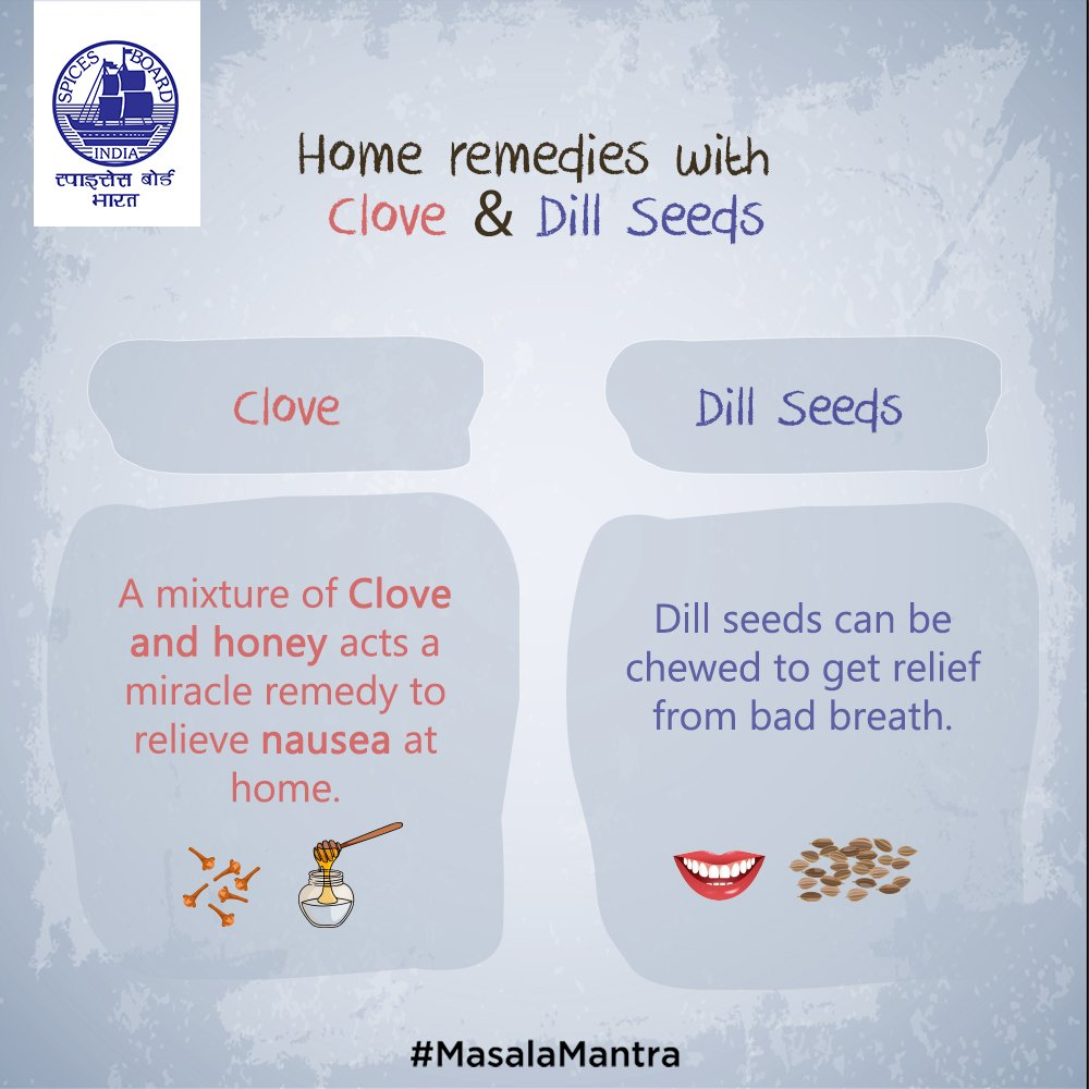Do you know other home remedies with Cloves and Dill seeds? Tell us us...