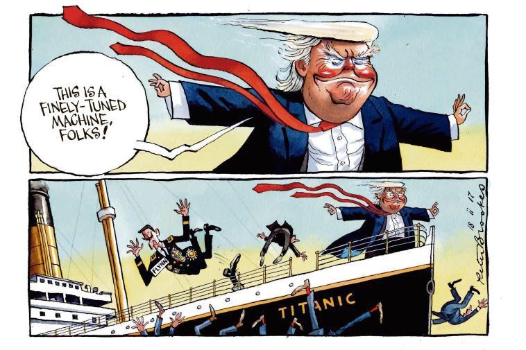 My cartoon Saturday @TheTimes. #fakenews from the #TrumpPressConferenc...