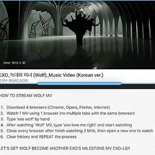 [#Wolf100MillionProject] Pls stream MV Wolf for 100 million soonest   https://www. youtube.com/watch?v=gAal8x HfV0c &nbsp; …  #VOTEforEXOTH #TeamEXO #EXO #엑소<br>http://pic.twitter.com/i2Qv4hhjyw